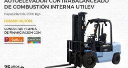 Autoelevador contrabalanceado de combustión interna Utilev UT25P